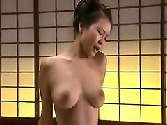 beautiful geisha with nice tits takes a samurai's hard cock