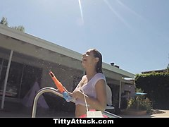 tittyattack-  busty wet teen fucked by huge cock